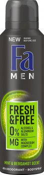 Дезодорант-спрей Fa Men Fresh&Free Ментол-бергамот с магний комплексом 150 мл (9000101251647)