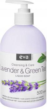 Жидкое крем-мыло для рук Eva Natura Лаванда и зеленый чай 500 мл (5900002072980)