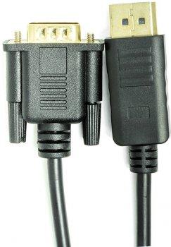 Кабель PowerPlant DisplayPort (M) — VGA (M) 1 м Чорний (CA911882)