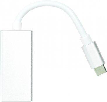Переходник PowerPlant USB Type-C 3.1 Thunderbolt 3 (M) - DisplayPort (F) 4K 0.15 м Серебристый (CA911851)