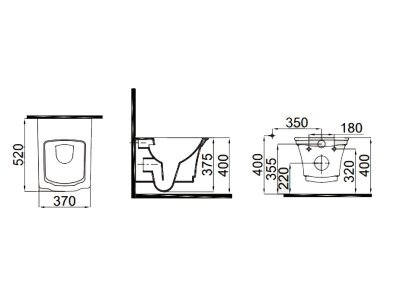 Чаша подвесного унитаза с функцией биде IDEVIT Neo Classic Iderimless (3304-0615)