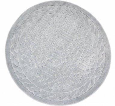 Килимок для ванної Агуа. Berceste сірий, круглий-Діаметр 120 см