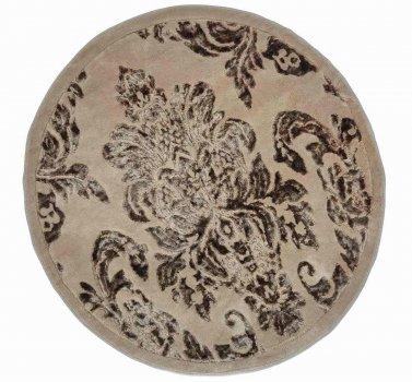 Килимок для ванної Агуа. Osmanlı коричневий, круглий-Діаметр 120 см
