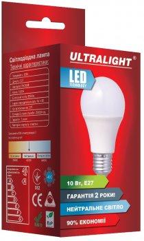 Світлодіодна лампа Ultralight LED A60 10W 4100K E27 (UL-49125)
