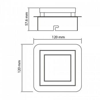 Светильник светодиодный Horoz Electric LIKYA-1 настенно-потолочный 5Вт 150Лм 4000К (036-007-0001)
