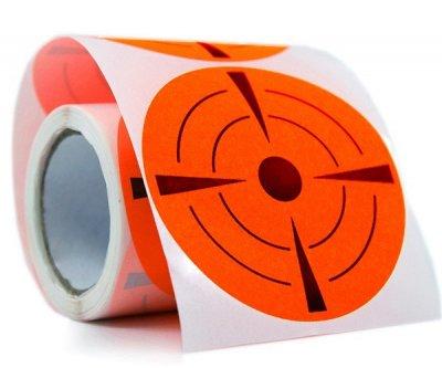 Мишени флюоресцентные 7dayslabel D=74 мм Оранжевые