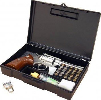 Кейс MTM Handgun Storage Box 804 для пистолета/револьвера с отсеком под патроны (24,9x16,0x5,1 см). 17730878