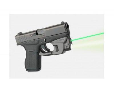 Целеуказатель LaserMax на скобу для Glock 42/ 43 з ліхтарем (зелений). 33380024