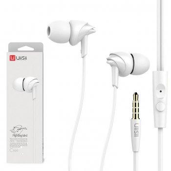 Наушники с микрофоном UiiSii C200 белые