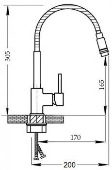 Кухонний змішувач IMPERIAL 31-107-13