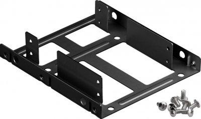 Деталь монтажна Lucom Монтажна рама (HDD) 3.5-2.5x2 кріплення (піддон) чорний(25.02.5038)