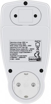 Двухтарифні ватметр Protech Power Meter Cat 2 (PP-3460) лічильник електроенергії розетковий Энергометр