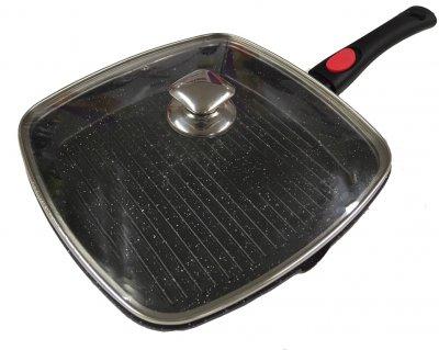 Сковорода-гриль Benson BN-314 з кришкою 28 x 28 см