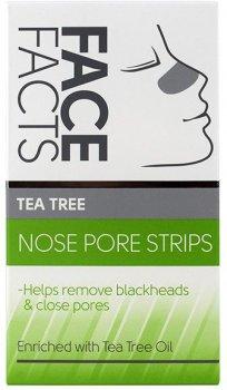 Очищаючі смужки для носа Face Facts Tea Tree 6 шт (5031413965476)
