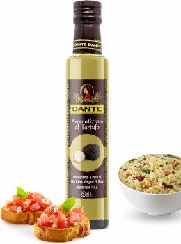 Оливковое масло Olio Dante Extra Virgin первого холодного отжима со вкусом черного трюфеля 250 мл (8033576194035_8033576194943_18033576194940)