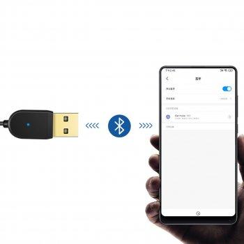 Аудио адаптер Lesko Bluetooth 5.0 AUX 3.5 mm рабочий диапазон 10 м USB беспроводной динамик