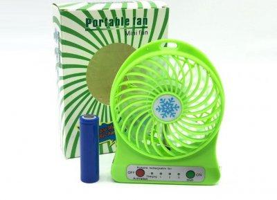 Вентилятор акумуляторний настільний Plymex F002 Зелений (3457)
