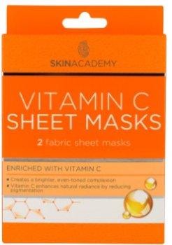 Маска тканевая для лица Skin Academy Vitamin C 0.45 г х 2 шт (5031413989908)