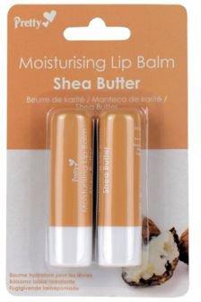 Бальзам для губ Pretty Moisturising Shea Butter 4.3 мл х 2 шт (5031413916973)