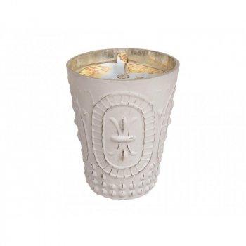 Свічка Greenleaf Bella Fresia 275г в античному скляному свічнику(5506335)