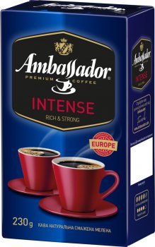 Кава мелена Ambassador Intense 230 г (8719325224443)