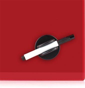 Доска стеклянная Axent магнитно-маркерная 60х90 см Красная (9615-06-a)