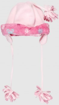 Зимняя шапка с завязками Disney 70848 53 см Светло-розовая (Di04162335640)