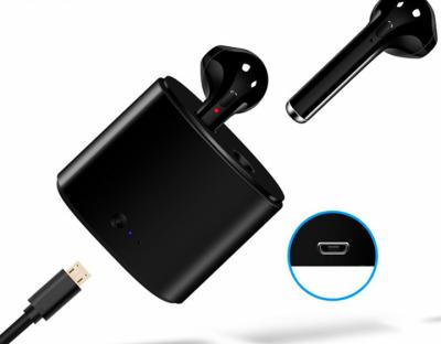 Бездротові навушники Bluetooth MYKO i7S-3plus покоління TWS V5.0 Stereo, Black