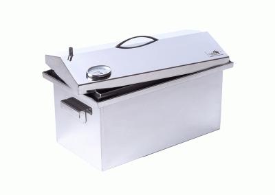 Коптильні гарячого копчення нержавіюча сталь з термометром (520х300х310)