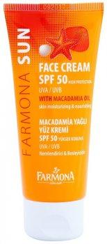 Солнцезащитный крем для лица Farmona Sun SPF 50 обезжиренный 50 мл (5900117000717)