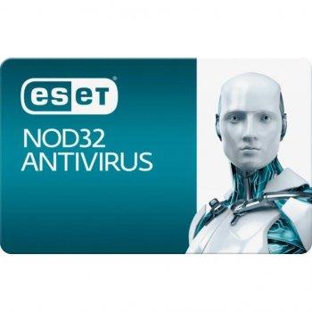 Антивірус ESET NOD32 Antivirus 2ПК 12 міс. base/20 міс продовження конверт (2012-17-key)