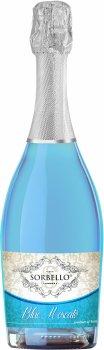 Алкогольный напиток на основе вина Decordi Sorbello Blue Moscato голубое сладкое 0.75 л 5.5% (8008820158675)