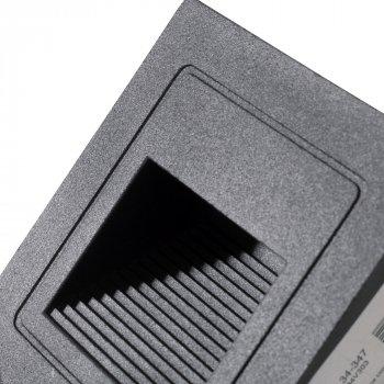 Настінний світильник Brille LZ-02/3 Вт WW BK IP65 (34-347)