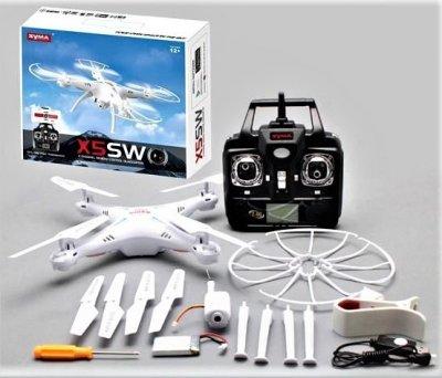 Квадрокоптер Syma X5SW с камерой WiFi Белый (А1756)