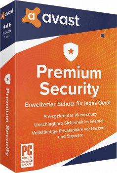 Антивірус Avast Premium Security for Windows 1 ПК на 1 рік (електронна ліцензія) (AVAST-PSW-1-1Y)