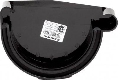 Заглушка жолоба Profil права Р 130 Чорна (5906775639917)