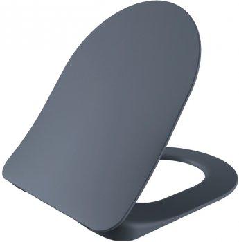 Унітаз підвісний CREAVIT Free FE320-11BM00E-0000 + сидіння Soft Close KC0903.01.0600E дюропласт базальт матовий