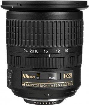 Nikon AF-S DX Nikkor 10-24 mm f/3.5-4.5G ED (JAA804DA) Офіційна гарантія!