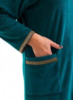 Халат Bonita женский велюровый изумрудный цвет