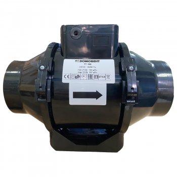 Канальный вентилятор Домовент TT 125, цвет черный, аналог Вентс ТТ 125 (Domovent TT 125)