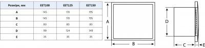 Вытяжной вентилятор Europlast E-EXTRA EET150HT белый