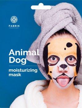 Маска биоцеллюлозная для лица с принтом Fabrik Cosmetology Animal Dog Увлажняющая 34 г (6942811892525)