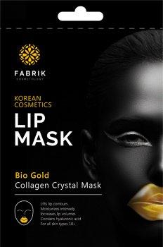 Маска гидрогелевая для губ Fabrik Cosmetology Bio Gold Увлажняющая с Биозолотом и Гиалуроновой кислотой 9 г (6925690253083)