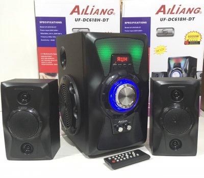 Акустична система комбік бездротова акумуляторна колонка з сабвуфером Bluetooth Ailiang UF-DC618H-DT