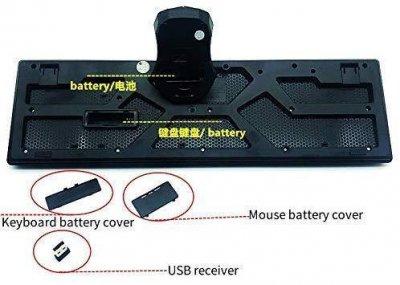 Бездротовий комплект (клавіатура і миша) UKC TJ-808 Black