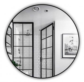 Зеркало J-MIRROR Inox R Black 70x70