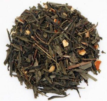 Чай зелений Tea Star Зеленый с имбирем ароматизированный с добавлением растительного сырья 100 г (4820235260323)