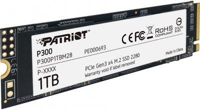 Patriot P300 1TB M.2 2280 NVMe PCIe 3.0 x4 3D NAND TLC (P300P1TBM28)