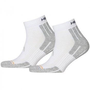 Носки Head Performance Quarter 2P Grey/White 741018001-300 (2 пары) Размер: 39-42