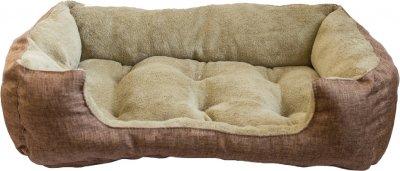 Лежак для котів і собак Форт Нокс FX Home 40х30х12 см Оливковий c коричневим (2820000010391)